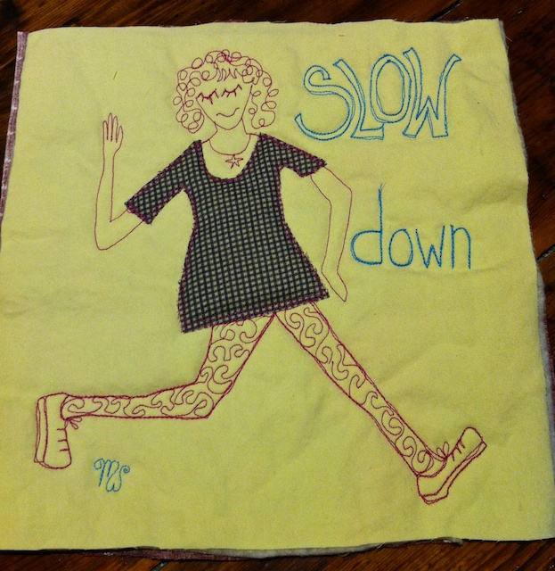 potholder, slow down, bedlam farm, jon katz, maria wulf,