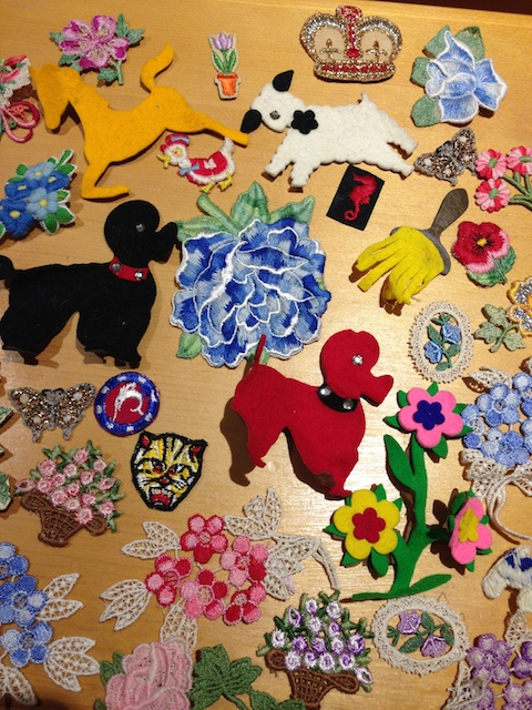 Some of the many appliques from Laura's Box of Fabric