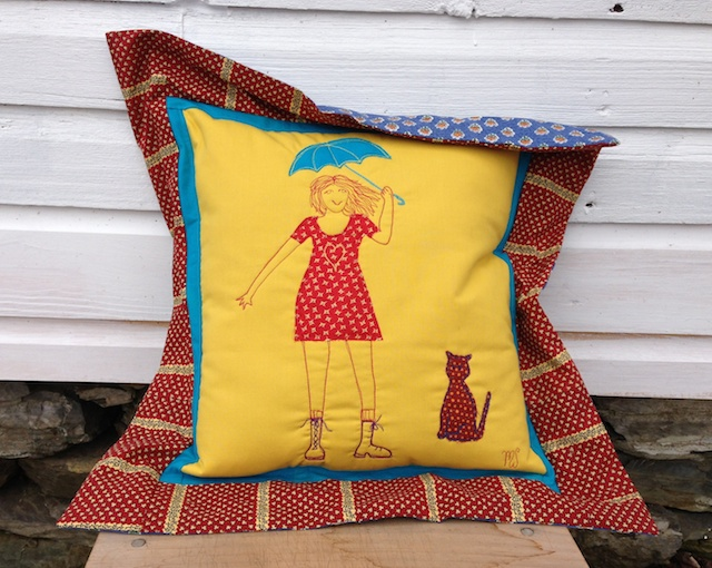 Umbrella Girl pillow is Sold