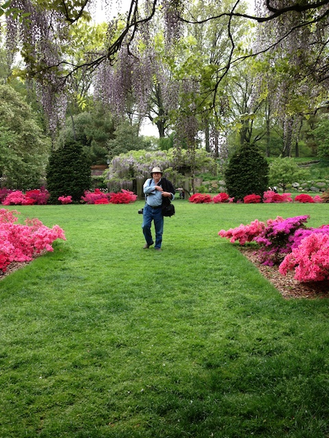 Jon at the Brooklyn botanical Gardens