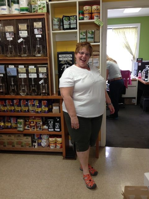 Kim at the Cambridge Co-op